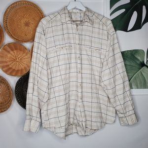 Christian Dior Men's Cotton Plaid Button Up VTG